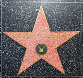 在名望好莱坞步行的Kiefer Sutherlands星  图库摄影