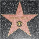 在名望好莱坞步行的女演员Raquel威尔士星  免版税图库摄影