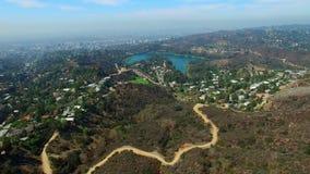好莱坞Hills加利福尼亚空中录影  影视素材