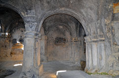 好被保存的女王/王后大厅在古老洞城市Uplistsikhe在Gori地区,乔治亚 库存图片