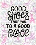 好鞋子把您带到合适场所 向量例证
