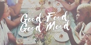 好食物好心情食家烹调承办的烹饪概念 库存照片