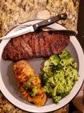 好食物牛排晚餐 图库摄影
