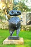 好,法国- 2011年10月22日 基础Maeght Sculpturs在室外庭院里 吉恩Arp 现代欧洲艺术 库存图片