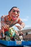 好,法国- 2月26 :尼斯狂欢节在法国海滨。这是里维埃拉的主要冬天事件。 库存图片