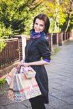 好购物是现代妇女的幸福 免版税库存照片