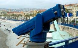 好-蓝色双筒望远镜 免版税图库摄影