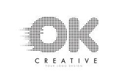 好O.K.与黑小点和足迹的Letter Logo 免版税库存图片