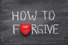 如何原谅心脏 免版税库存照片