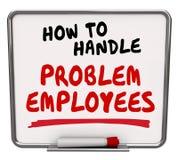 如何处理问题雇员工作者管理忠告 库存图片
