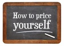如何定价自己黑板标志 库存图片
