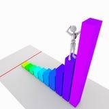 如何征服事务山顶  向量例证