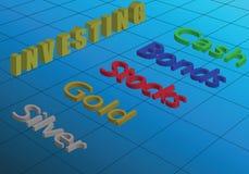 如何投资您的金钱在市场上 向量例证