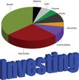 如何投资您的金钱 投资圆形统计图表 向量例证