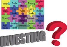 如何投资您的金钱 向量例证