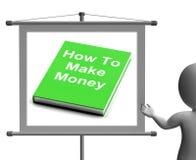如何挣金钱签署展示挣现金 免版税图库摄影