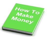 如何挣金钱预定展示挣现金 图库摄影