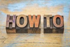 如何措辞在木类型 免版税库存图片