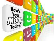 如何是您的心情情感感觉指示符 免版税库存图片