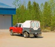 如在加拿大中看到的一个异常的轻型货车 免版税库存图片