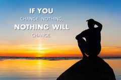 如果您改变没什么没什么将变动它您的choise 库存图片