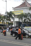如果案件事件城市警察独奏中爪哇省 库存图片