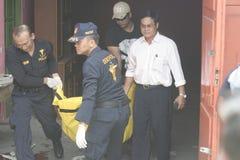 如果案件事件城市警察独奏中爪哇省 库存照片