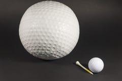 如果仅高尔夫球是更大的 免版税库存照片