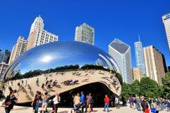 如银豆雕塑,芝加哥 库存图片