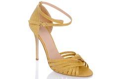 妇女与高跟鞋的` s凉鞋 图库摄影