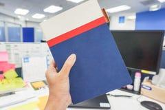 妇女业务会议的举行笔记本 库存照片