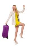 妇女为假期做准备 免版税库存照片