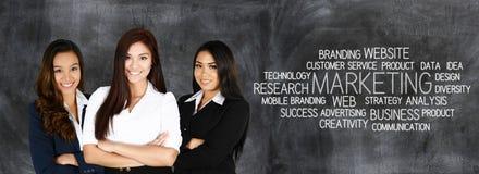妇女企业营销 免版税库存图片