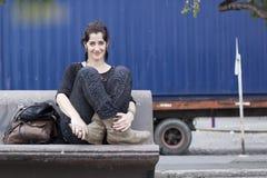 妇女休息 免版税库存图片