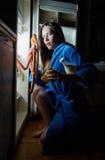 妇女作为食物 免版税库存图片