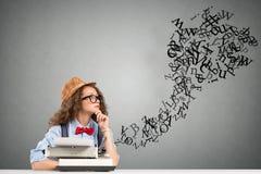 妇女作家 免版税库存照片