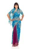 妇女佩带的莎丽服 免版税图库摄影
