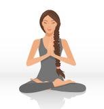 妇女信奉瑜伽者 免版税图库摄影