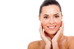 妇女健康皮肤 库存图片