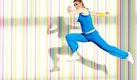 妇女健身一 免版税图库摄影