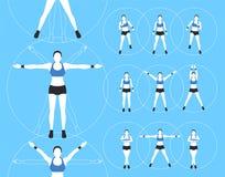 妇女健身传染媒介 库存图片