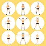 妇女健身传染媒介 免版税库存图片