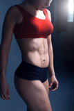 妇女健身刺激 免版税库存图片