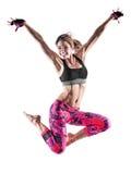 妇女健身拳击被隔绝的pilates excercises 免版税库存照片