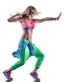 妇女健身excercises舞蹈家跳舞 库存照片
