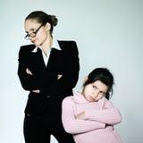 妇女儿童冲突dipute问题 库存照片