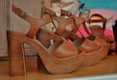 妇女凉鞋 免版税库存照片
