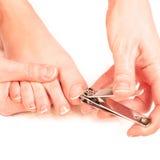 妇女切口趾甲 免版税库存图片