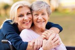 妇女前辈母亲 免版税库存图片