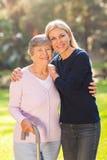 妇女前辈母亲 免版税库存照片